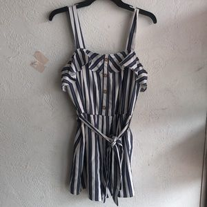 She + Sky striped romper